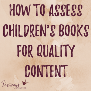 How to assess children's books for quality content
